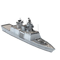 INS Shivalik Frigate Indian Navy (Low Poly)