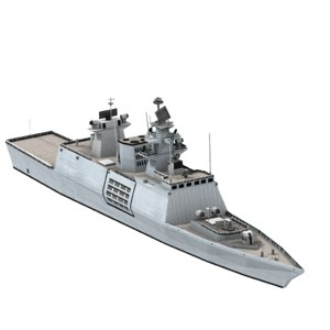 shivalik indian navy frigate ship 3d obj