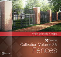 CGAxis Models Volume 36 Fences VRay