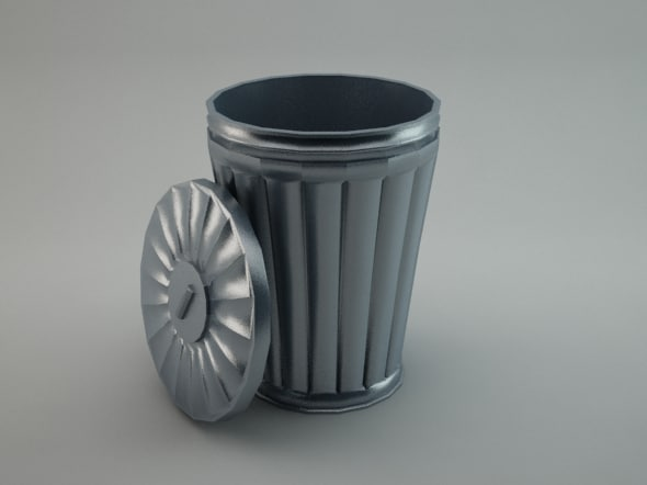 trash 3d obj