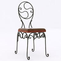 chair iron wrought 3d 3ds