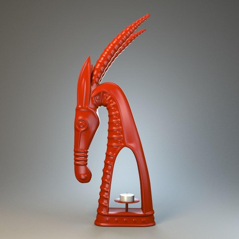 sculpture statue stylized 3d max