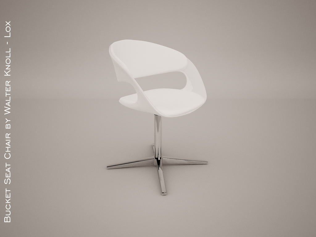 3d model bucket seat chair walter knoll
