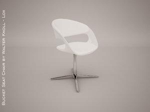 3d model bucket seat chair walter knoll