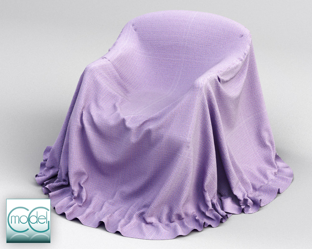 couch covered cloth 3d 3ds