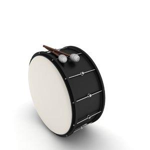 musical drum 3d model