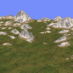 3d model grassy terrain tm1-03