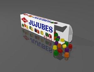 free box candy 3d model