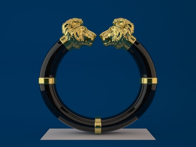 3ds max lion head bangle