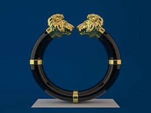3ds max lion head bangle