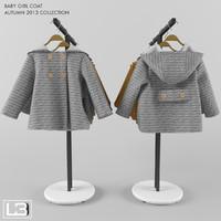 3d model zara baby coat