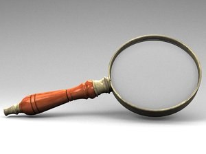 3d model of old magnifier glass
