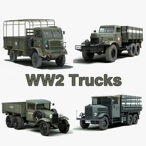 3d ww2 trucks