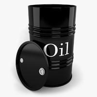 oil drum 3d model