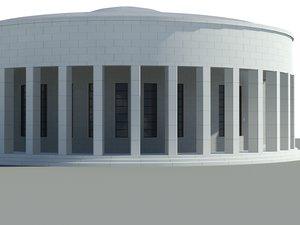 pavilion mestrovic building 3d 3ds