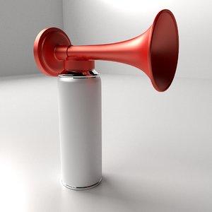 3d model portable air horn