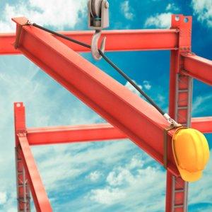 cartoon construction crane 3d obj