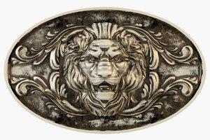 3d medallion lion model