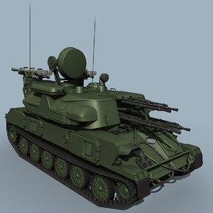 3d model of shilka m4 zsu-23-4
