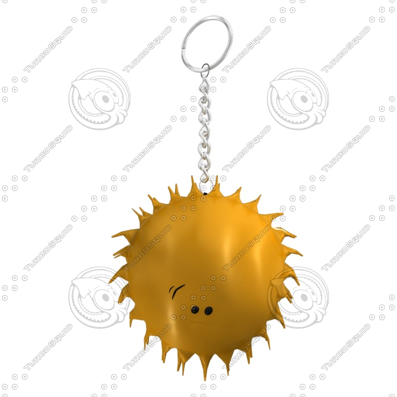 3d model cute sun smiley