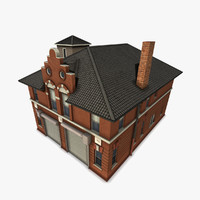old-fashioned department building 3d model