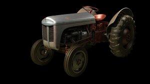 3d tractor dirt model