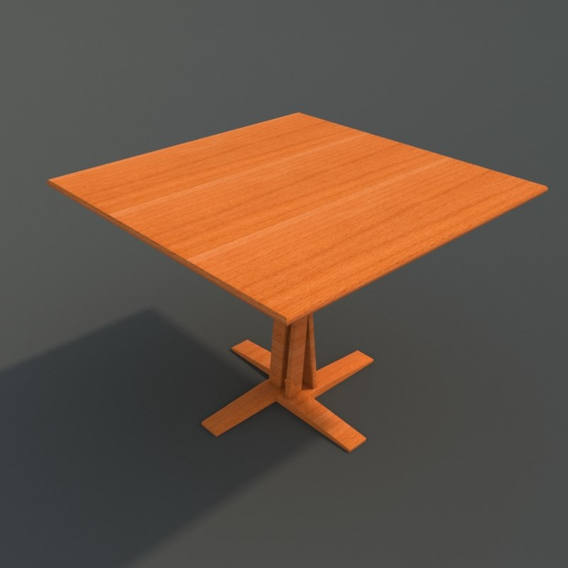3ds max varnished wooden table