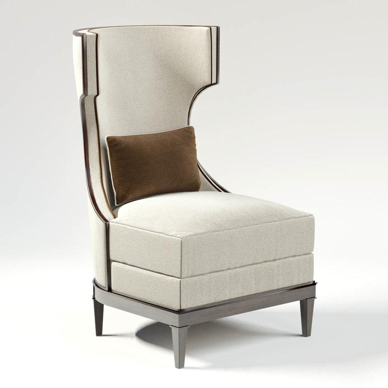 Modern Luxury Demi Wing Chair