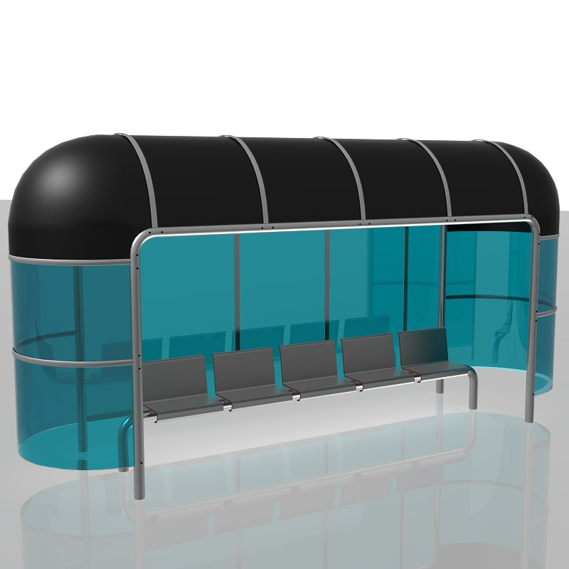 max bus stop shelter glass