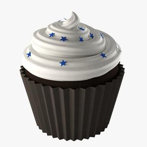 cup cake 3d obj