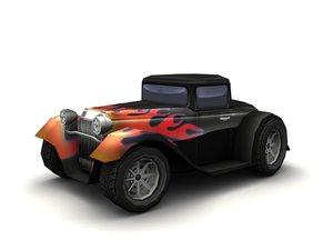 3d car hot rod