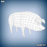 obj pig base mesh