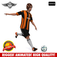 Soccer player animated