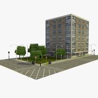 3d c4d city block 8 street