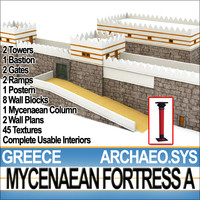 3ds greek mycenaean fortress