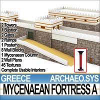 3ds greek mycenaean fortress