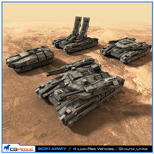 scifi army ground units max