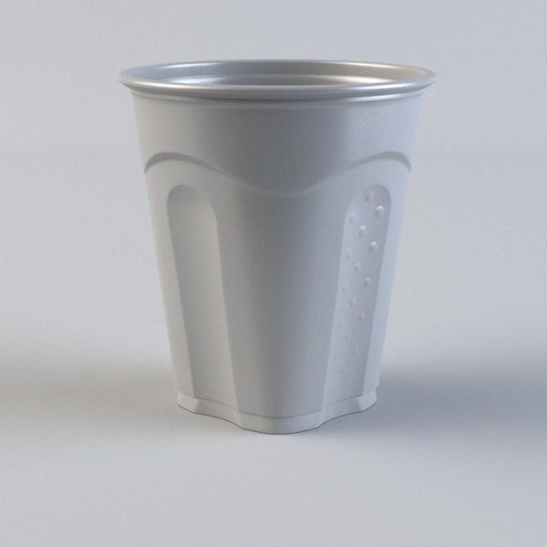 plastic cup obj