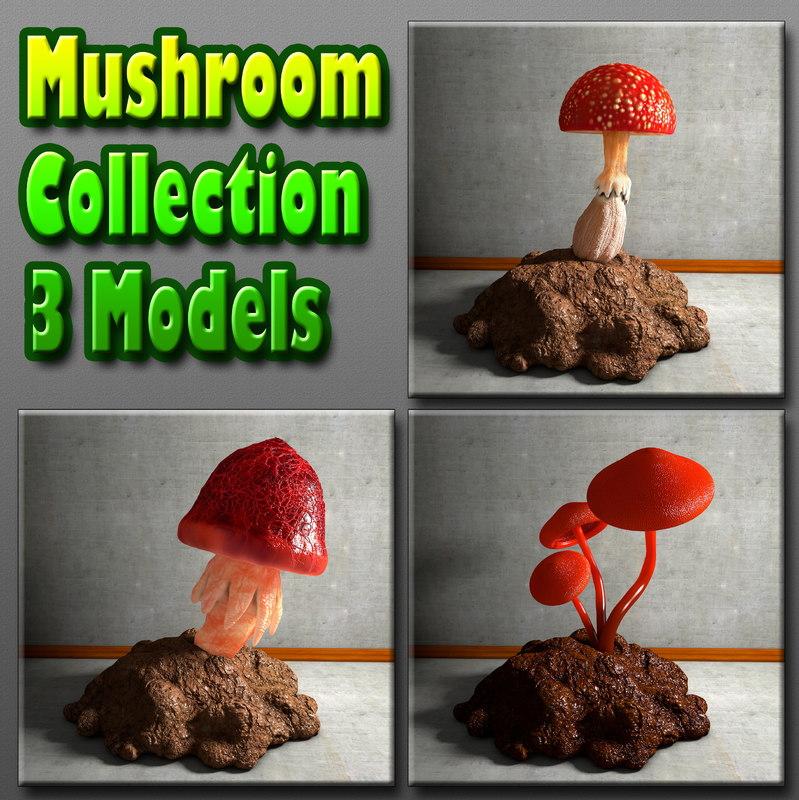 mushroom 3d obj
