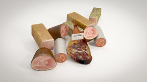 3d deli meat model