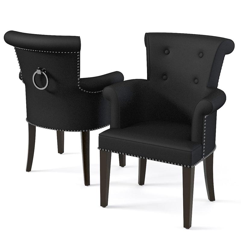 eichholtz chair largo 3d model