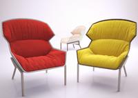3d max clarissa hood armchair chair