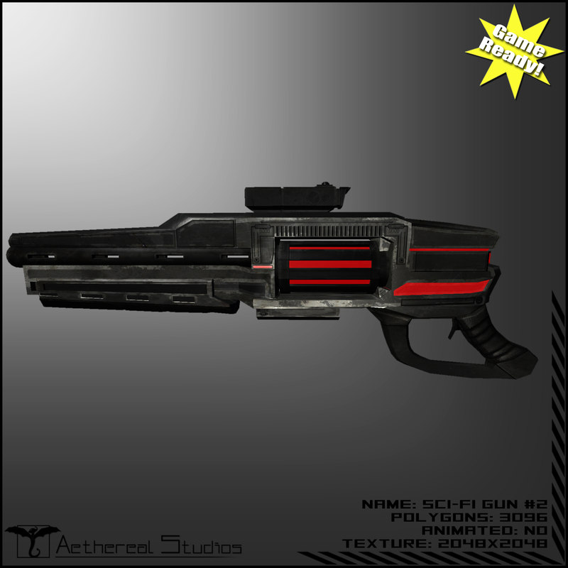 sci-fi weapon 2 3d x