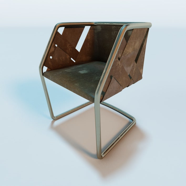 3d model henge strip chair