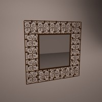 decorative handmade mirror 3d model