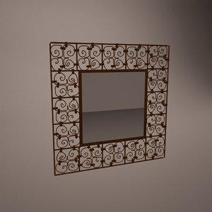 decorative handmade mirror 3d model