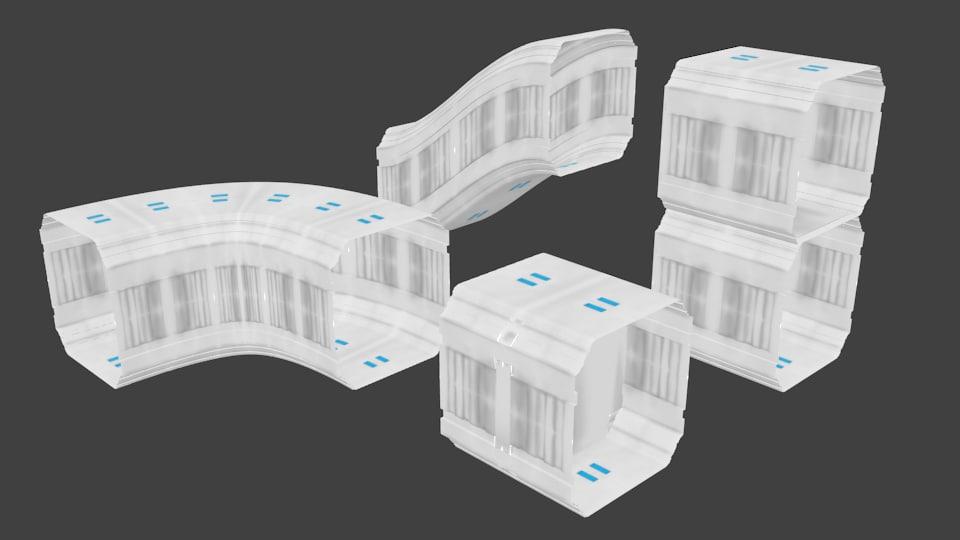 3d modular corridors 2 model