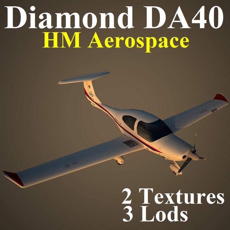 3d model diamond da40 hm hma