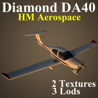 3d model diamond da40 hm hma