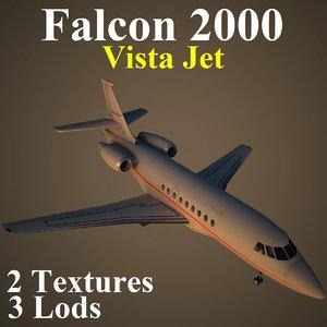 dassault falcon jet vjt 3d model